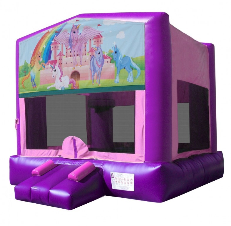 Unicorn Themed Bouncy Castle Hire Palmerston North