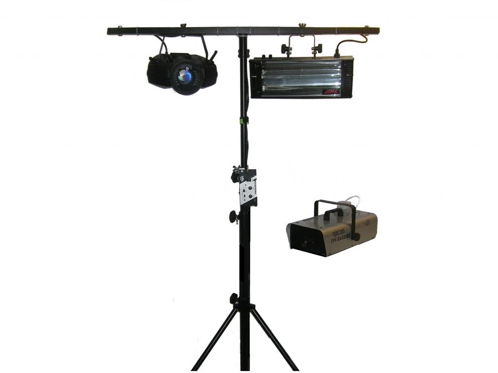 Strobe, Party Light & Fog Machine
