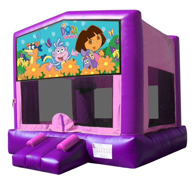 Dora Themed Bouncy Castle Hire Palmerston North