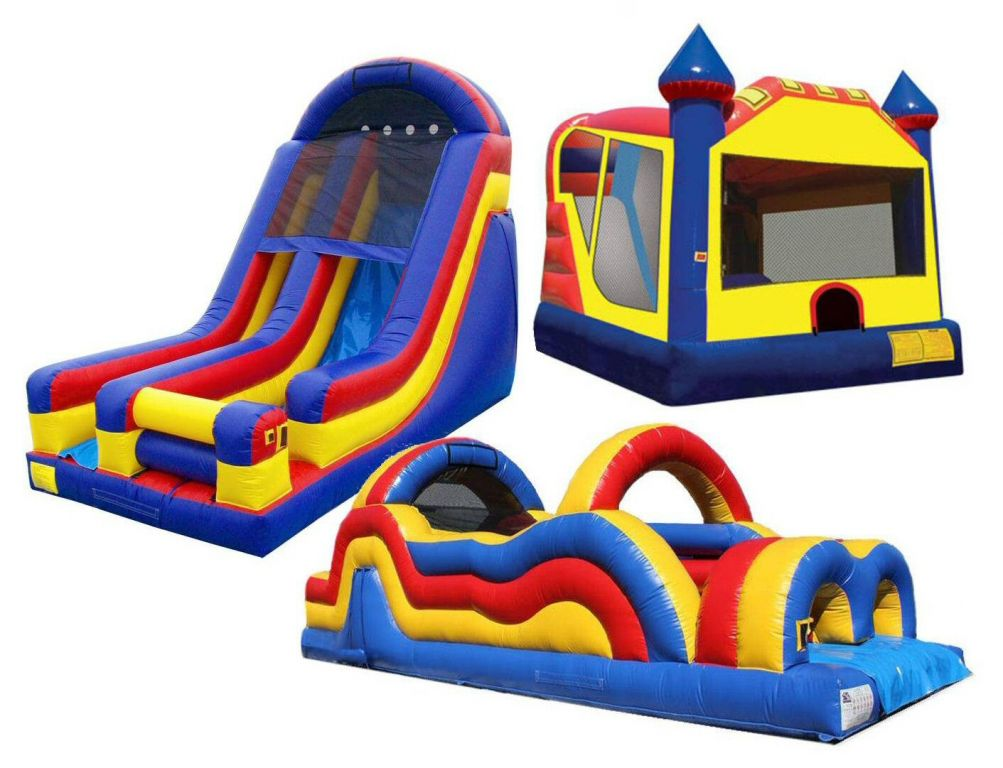 Combo Castles, Giant Slide, Obstacle Course