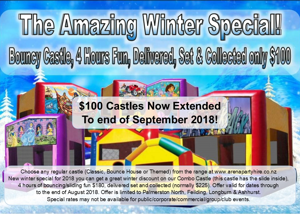 Bouncy Castle Winter Special Palmerston North